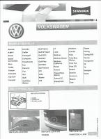 VW tolatóradar színkód